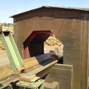 Metalldetektor zur Überwachung von Baumstämmen in Sägewerken